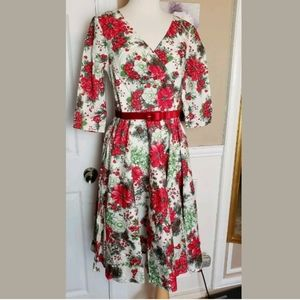 HELL BUNNY IVORY DRESS Berry HOLLY M NEW